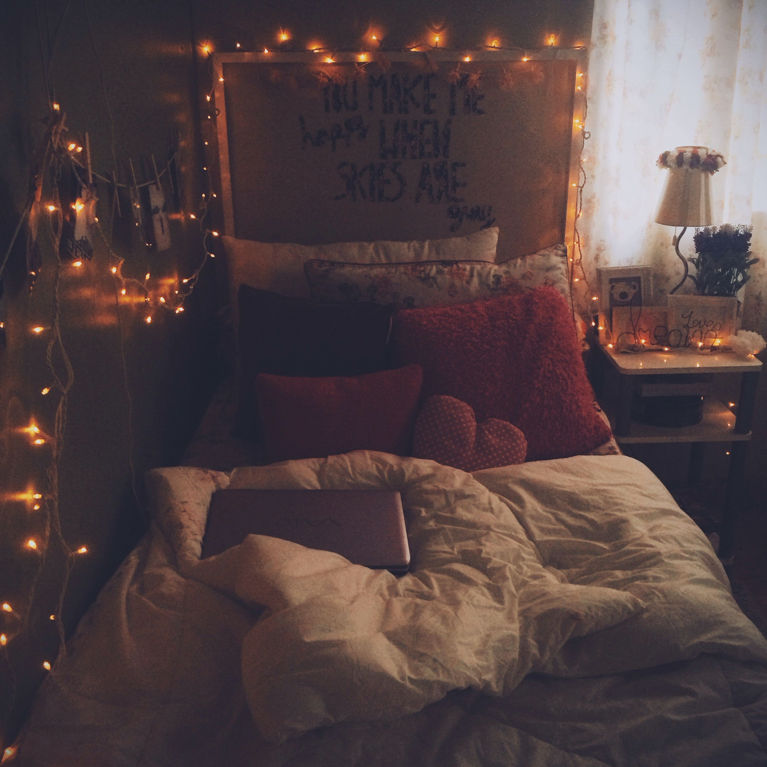 Wall Art Fairy Lights Hipster