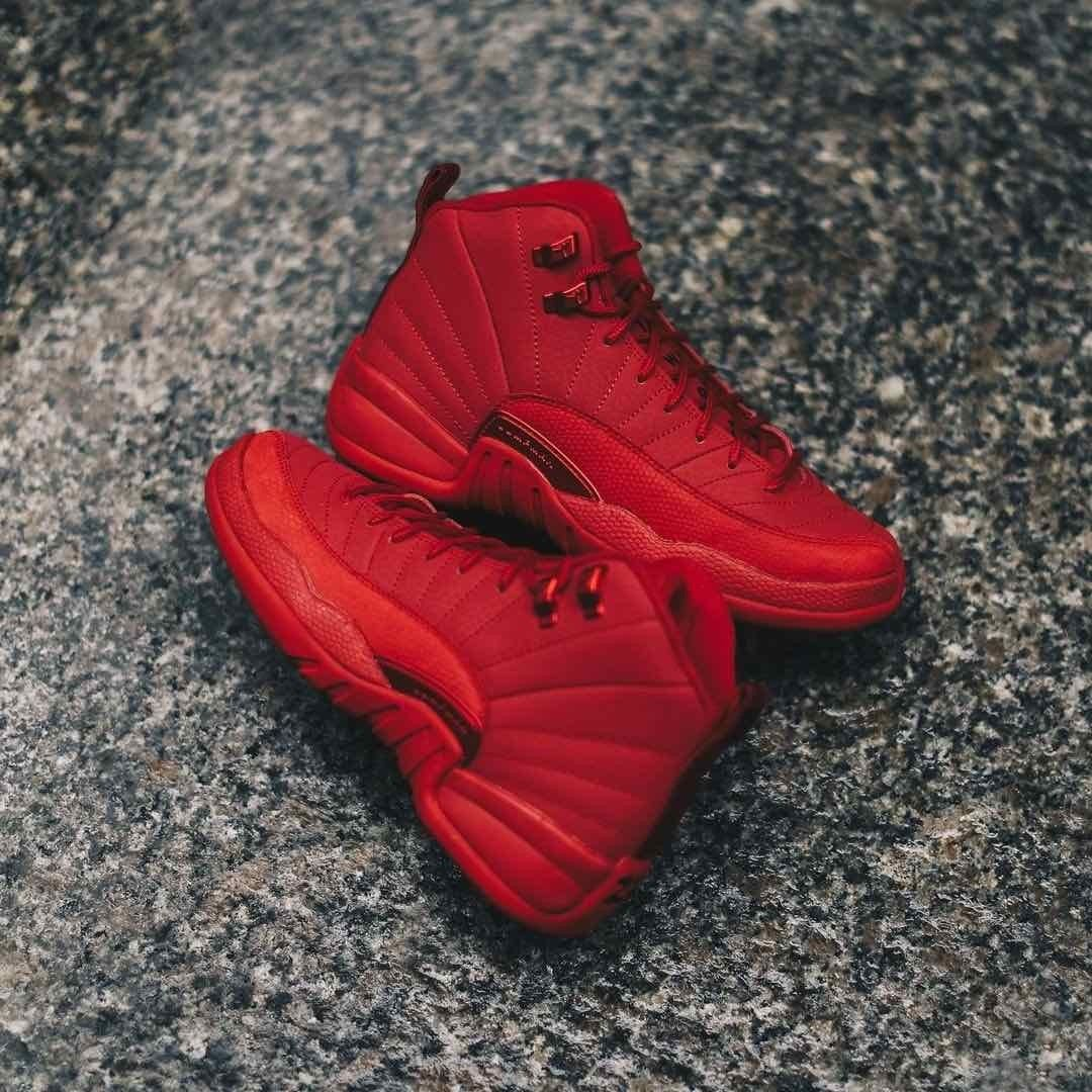 all red 12s outfit