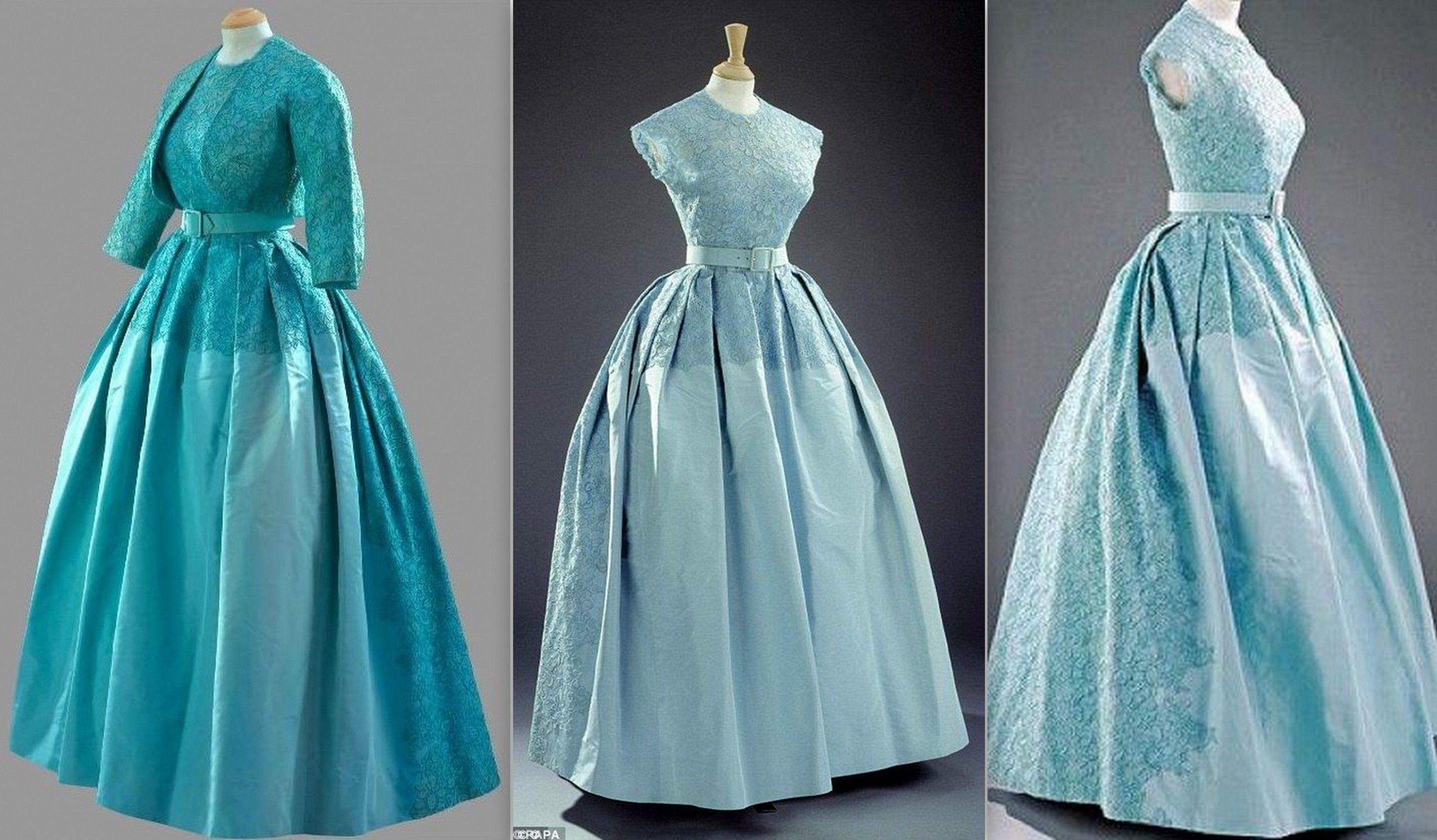 1960 Evening Dress, Norman Hartnell   1960-1965 long evening ...