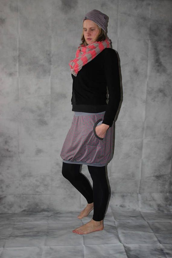 8074ce6e3a0e balloon, skirt, grey skirt, colorful skirt size S - L ...