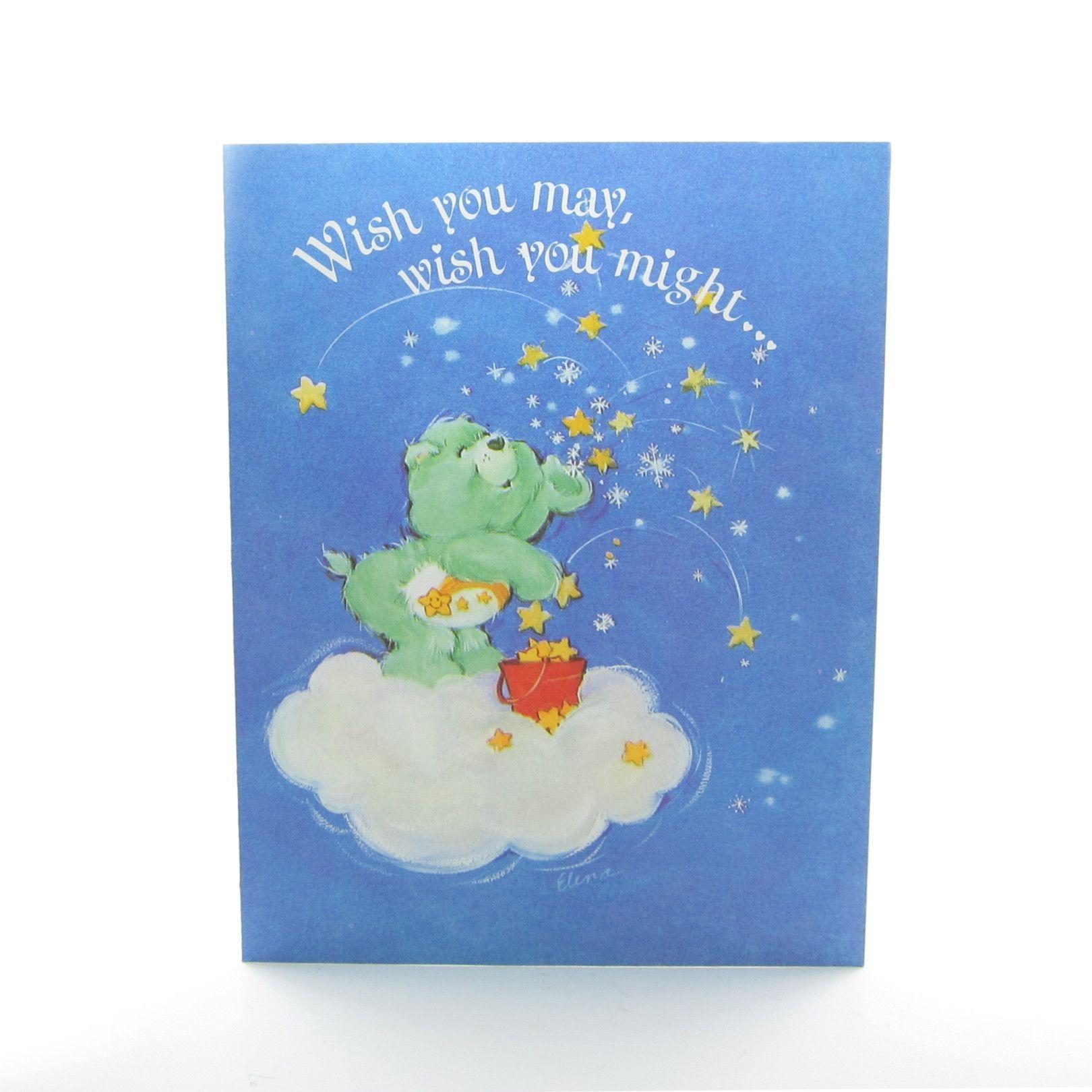 Wish Bear Seasons Greetings Care Bears Christmas Card Care Bears