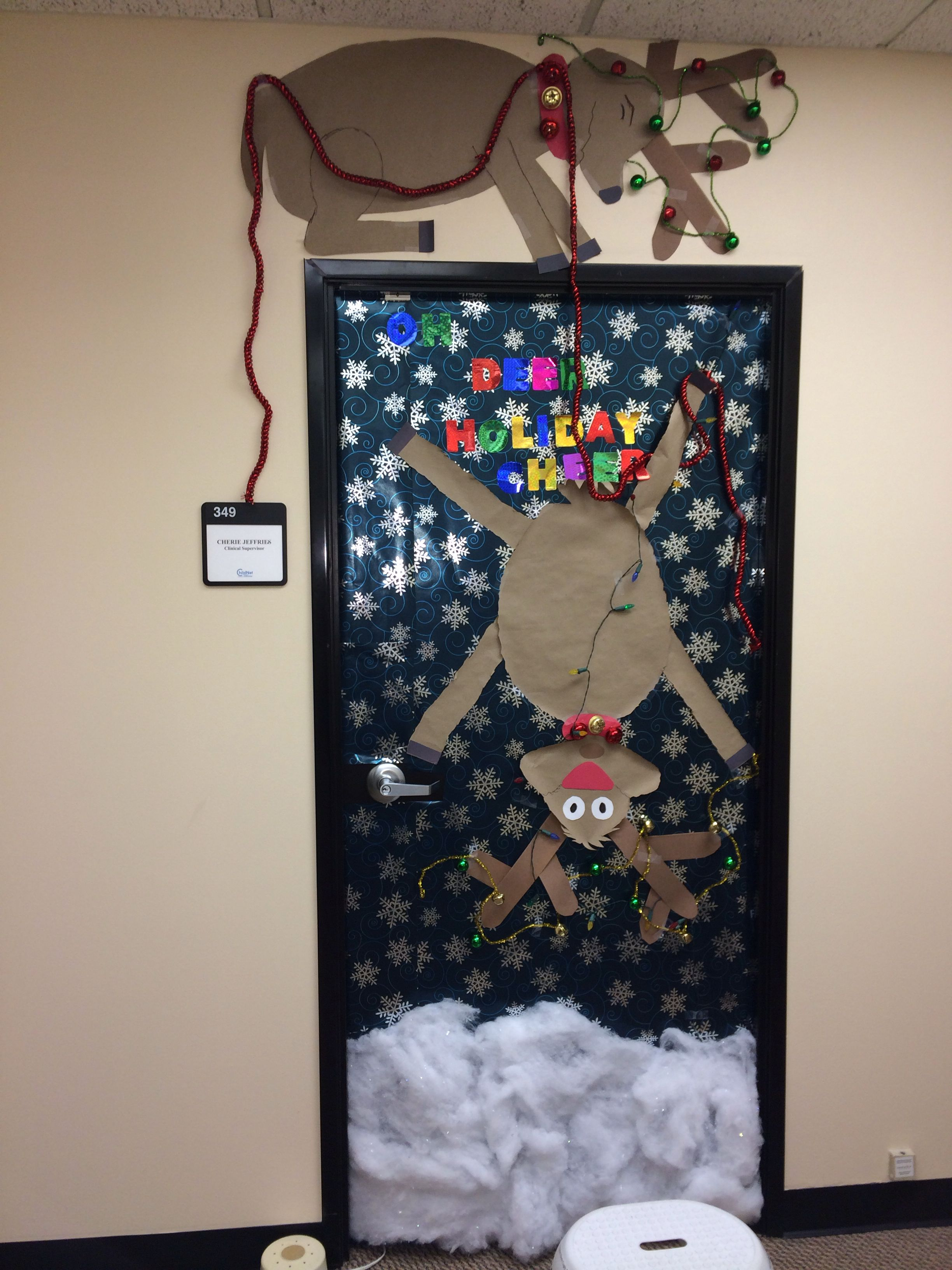 Christmas Door Decoration Christmas Daycare Room