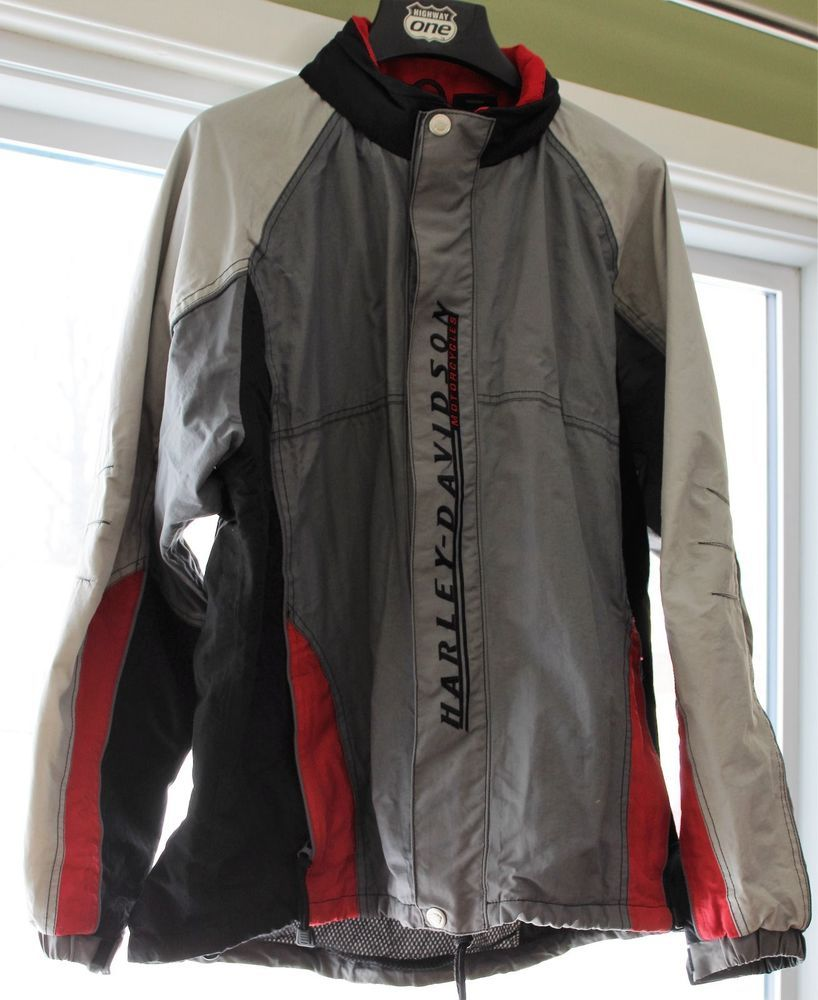 Mens Harley Davidson Rain Wind Gear Jacket Large 103819 03402 Harleydavidson Rainwear Jackets Rain Wear Harley Davidson