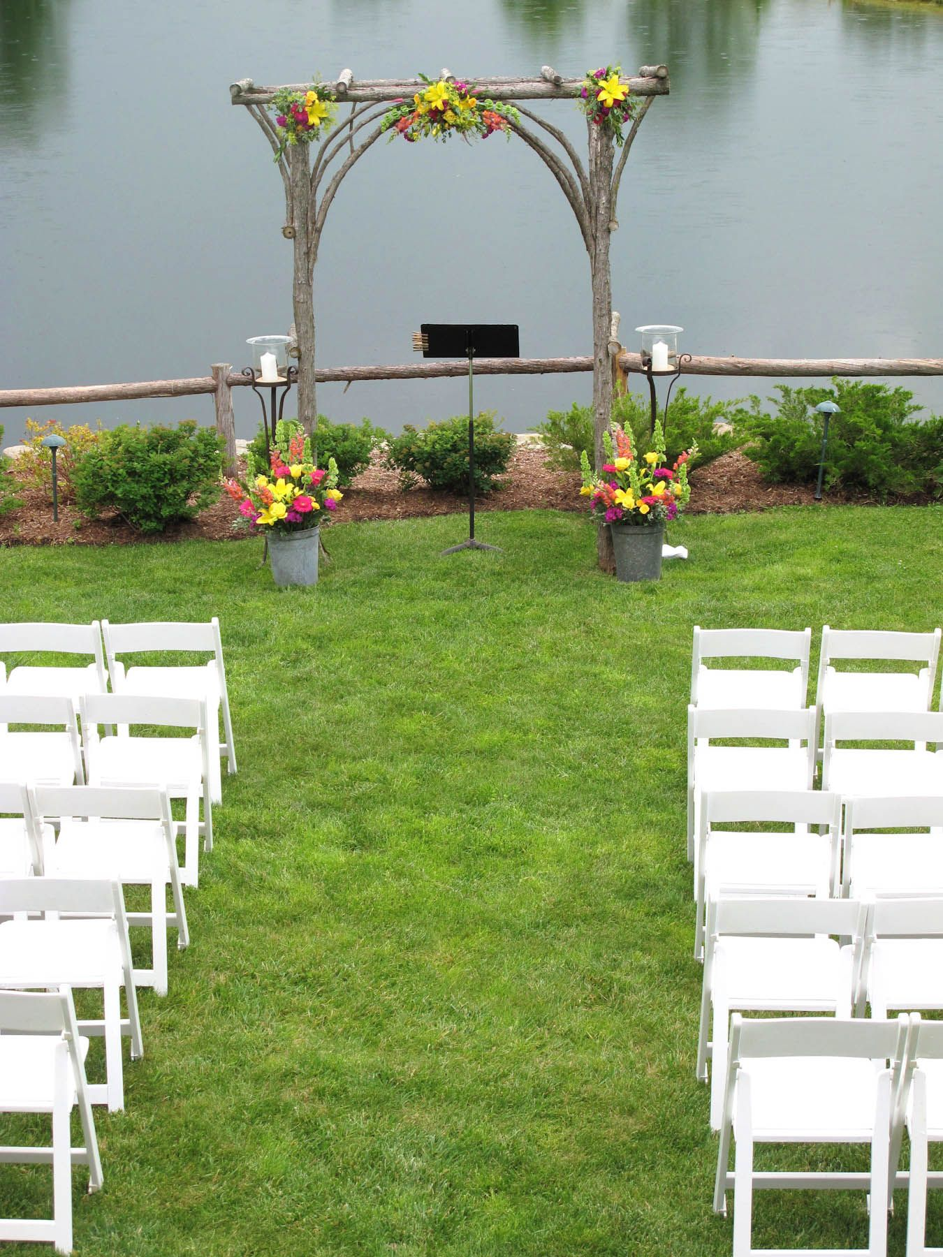Ceremony I Prefer The Clean Look Of The Bunch At The Top Without Any Greenery Ceremony Ceremony Spaces Wedding Flowers