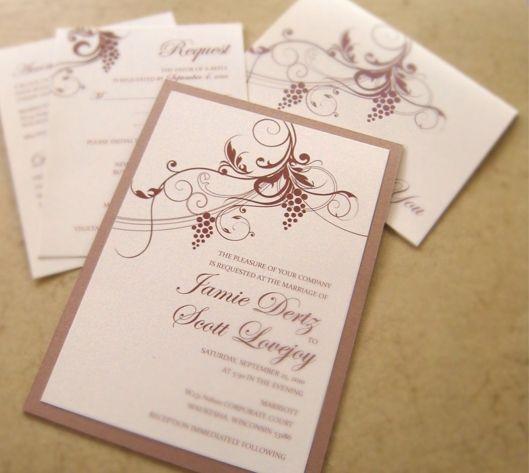 Stylish invitations wine theme wedding invitations inspiration