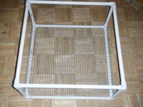 PVC Diy quail cage instructions