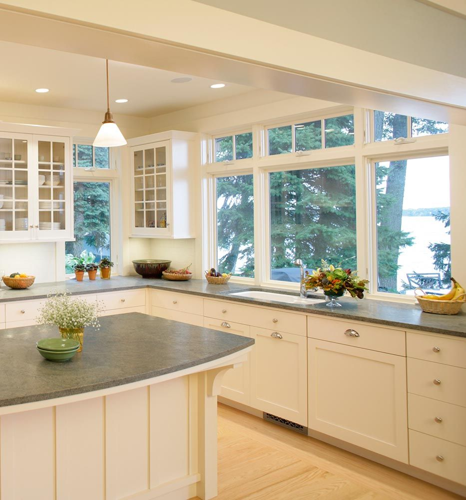 23 Best Cottage Kitchen Decorating Ideas And Designs For 2020: Lake Cottage Casement Windows In 2020