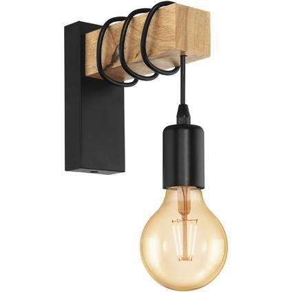 Eglo wandlamp Townshend zwart 10W #halinrichting