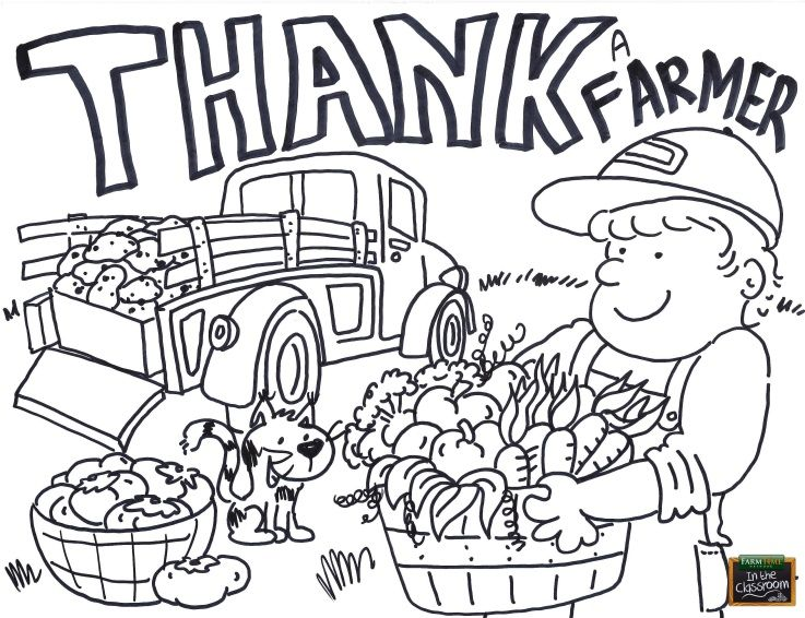 National Ag Week Coloring Page - Free teaching tool - printable ...