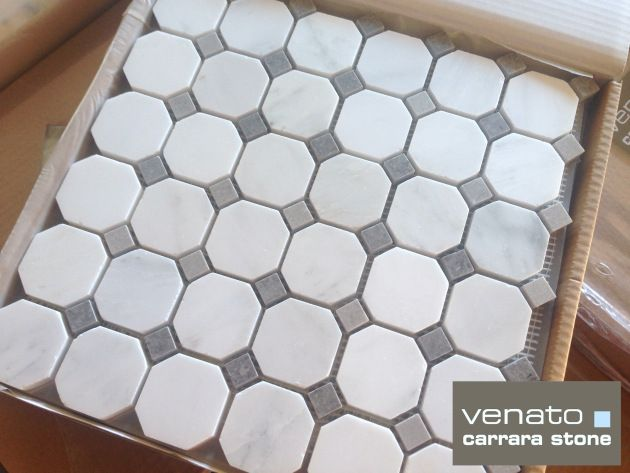 Floor Tile Carrara Venato Honed Gray