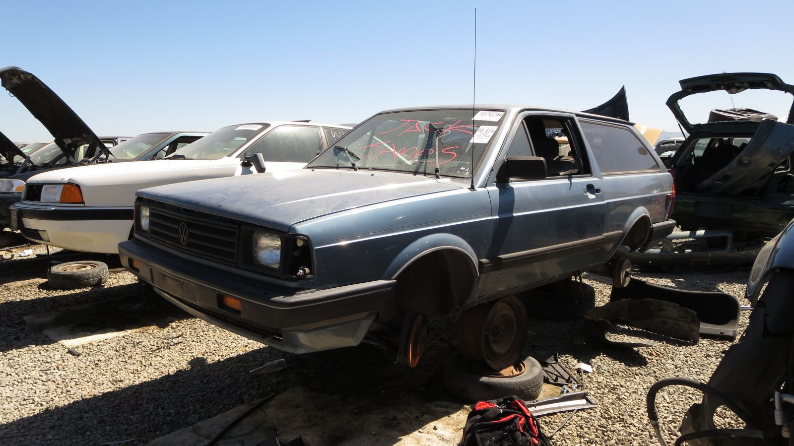 Junkyard Find 1988 Volkswagen Fox Station Wagon