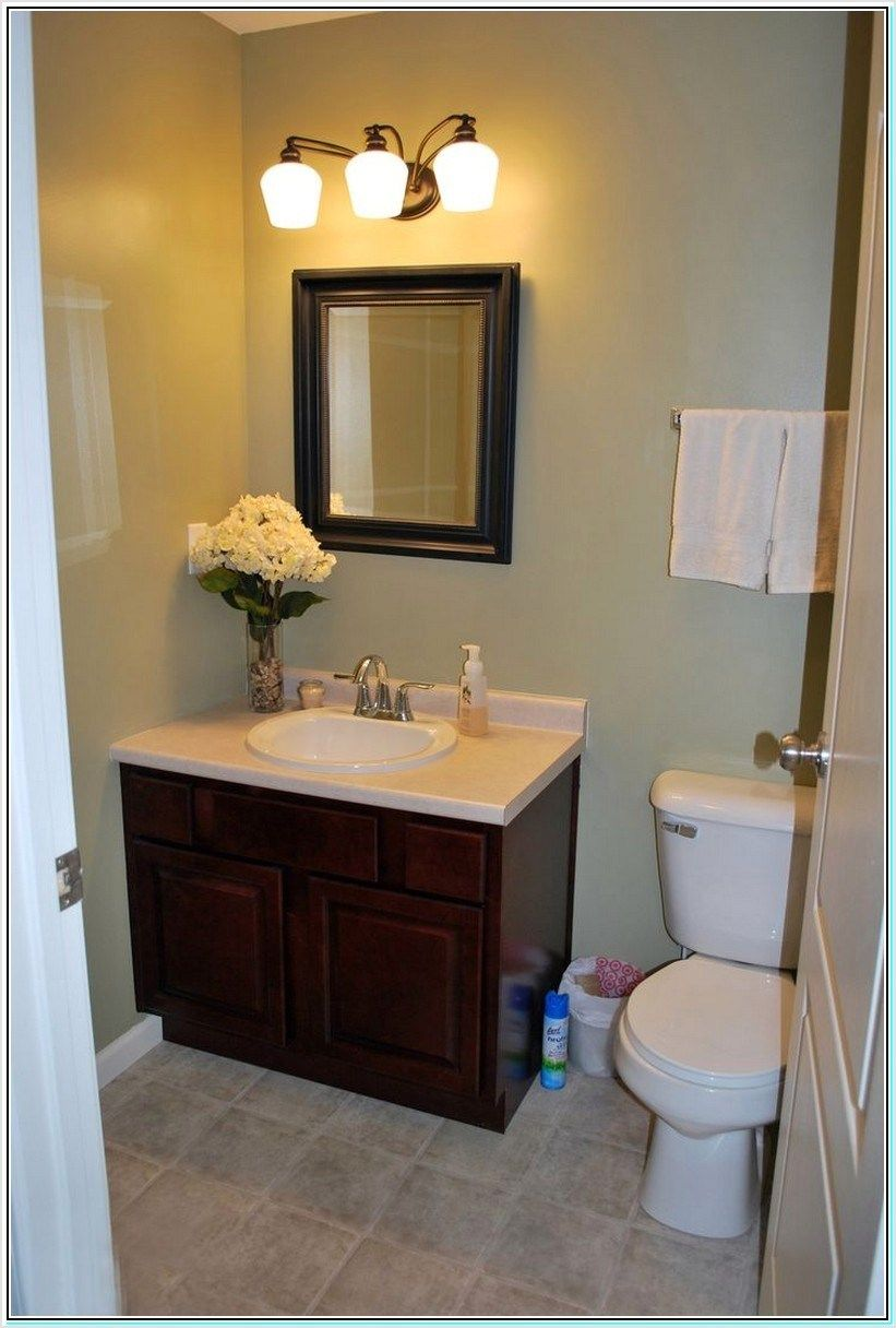 42 Small Half Bath Design Ideas Brown Bathroom Decor Small Bathroom Vanities Half Bathroom
