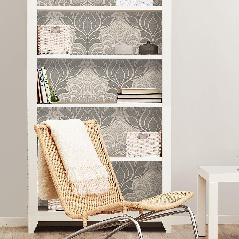 NuWallpaper NU2396 Charisma Peel & Stick Wallpaper, Grey ...
