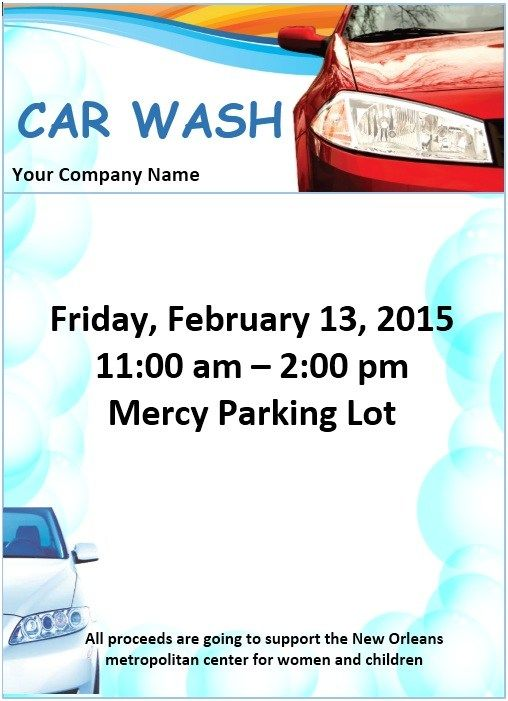 Car Wash Flyer Template  Stationary Templates    Car