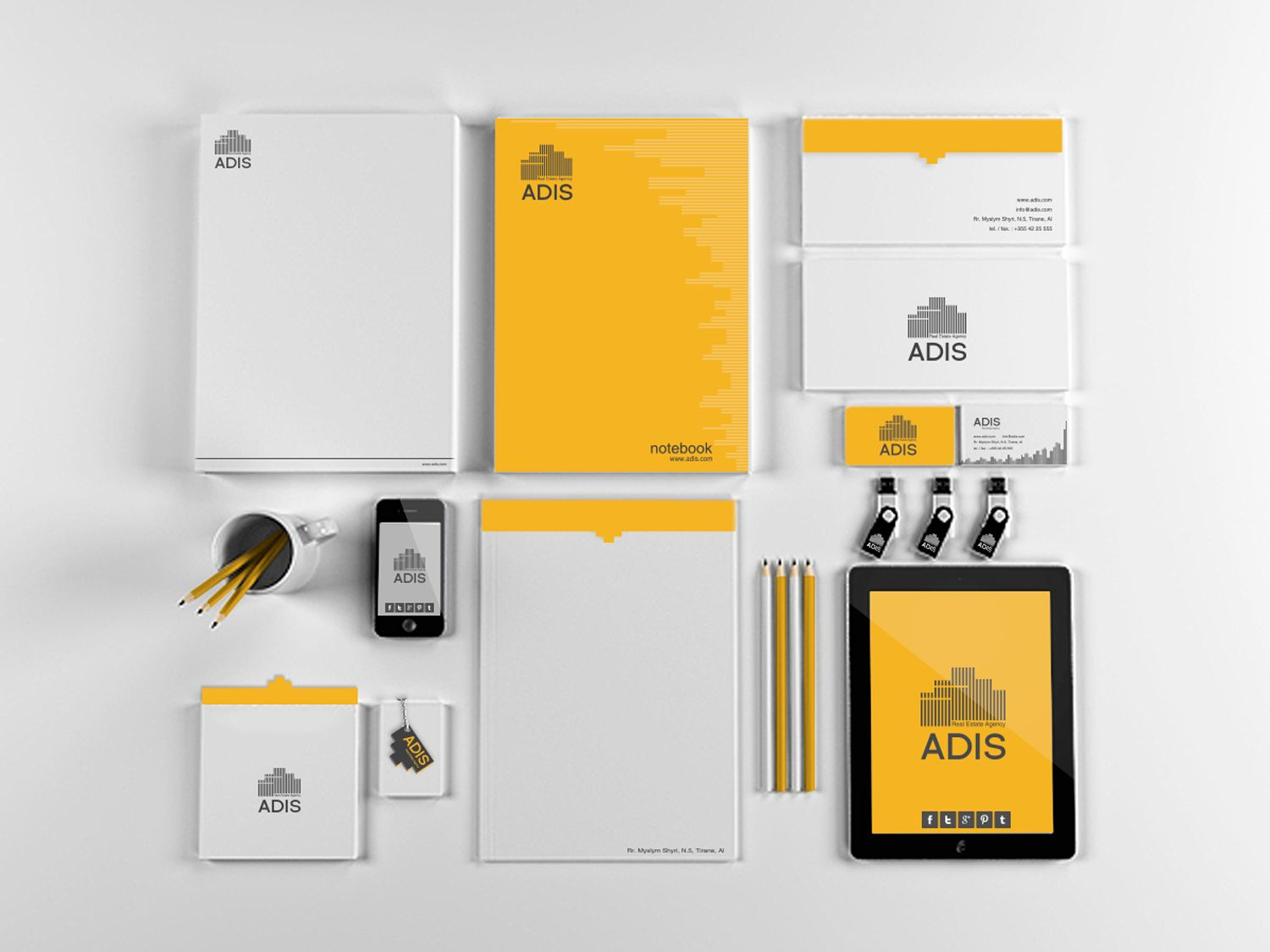 ADIS Real Estate Agency / Branding #branding #creative #stationary  #creative #stationary