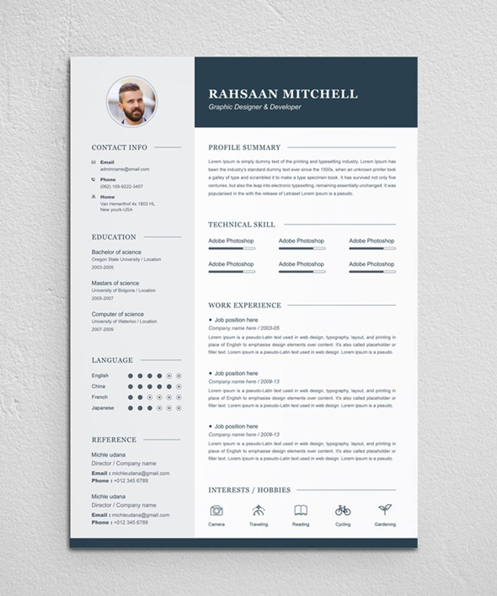 Rahsaan Mitchell Resume Template 79066 Infographic