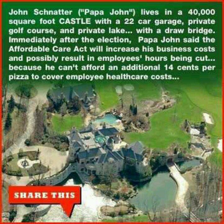 Papa John\'s sucks | Political | Pinterest