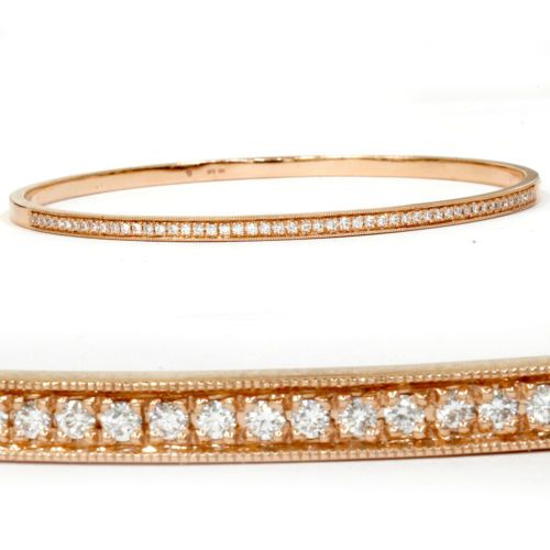 Dana Rebecca F Vs 1 2 Ct Solid 14 Kt Rose Gold Diamond