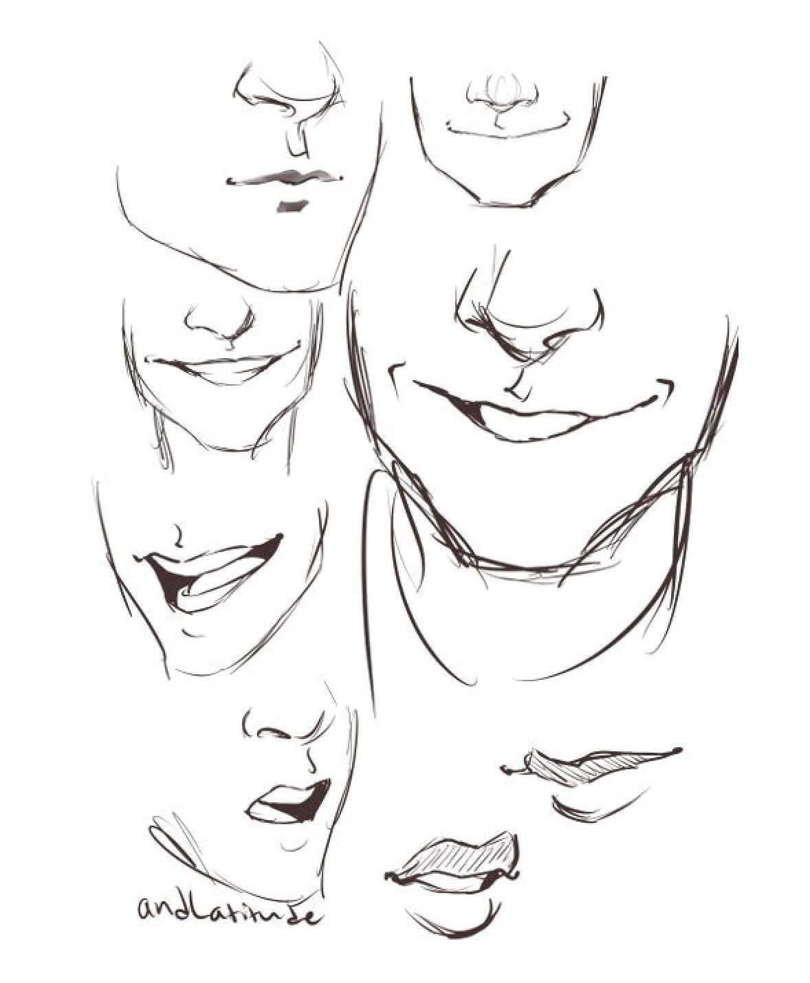 How To Draw Different Mouth References