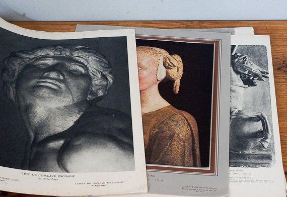 For Jeans: Le Louvre Museum catalogue of Renaissance Italian sculpture from 1934. $20.00, via Etsy.