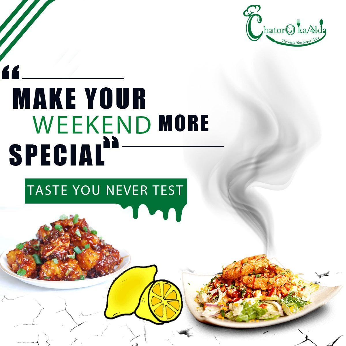 Weekend Special Dishes Food Photography Lighting Food Menu Design Food Poster Design