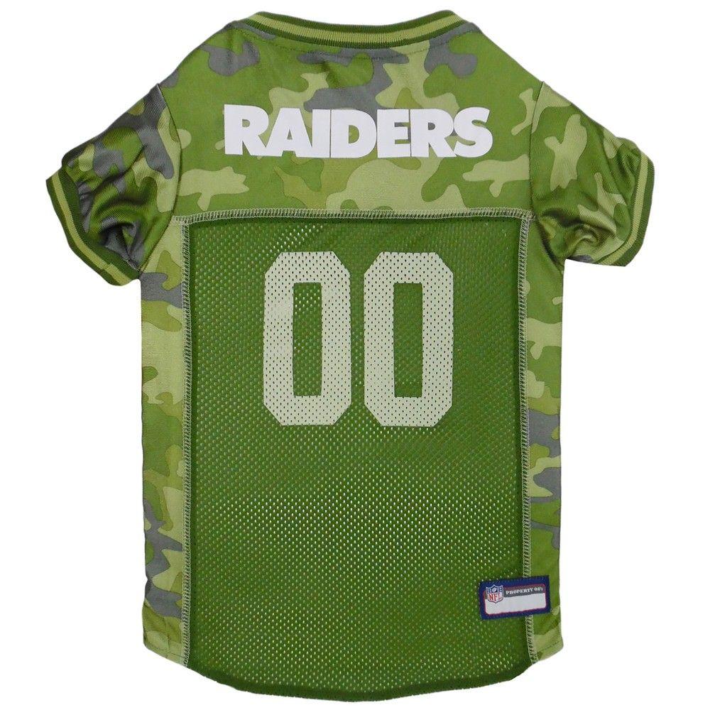 Oakland Raiders Pets First Camo Pet Football Jersey - Camo XL ... 21a20d64b