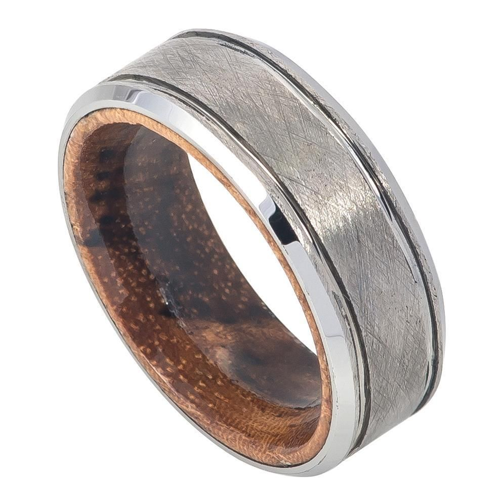 8mm Tungsten Ring With African Sapele Mahogany Wood Inner Sizes 715 Band: African Wood Wedding Rings At Reisefeber.org