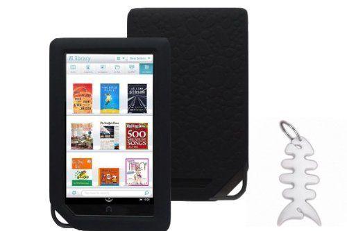 Barnes Noble Nook Color Ebook Reader Tablet Silicone Skin Case Gel Cover Black Fishbond Keychain By Barnes Noble Headphone Wrap Skin Case Ebook Reader