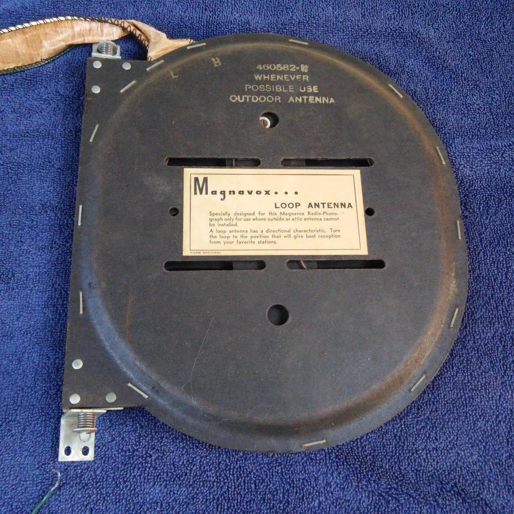 Magnavox Hifi Console Tube Radio Loop Antenna Magnavox Vintage