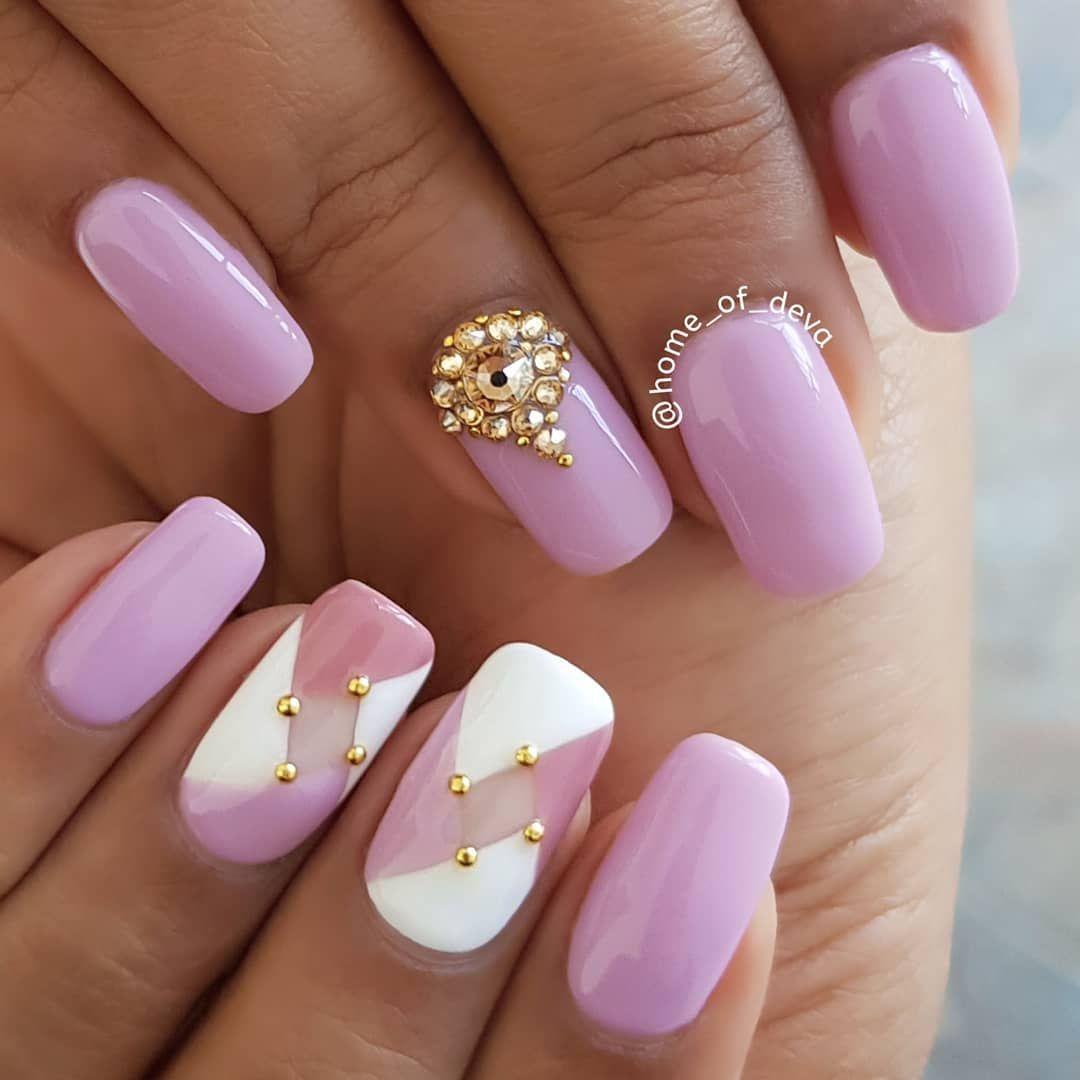 39 pretty nail art designs, nails,Pretty pink glitter nails #nailart #manicure #naildesigns #nails