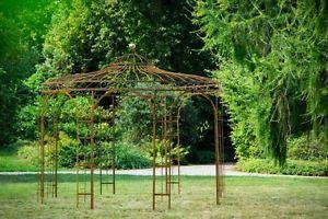 Details Zu Stabiler Gartenpavillon Rost Metall O 250cm Pavillon