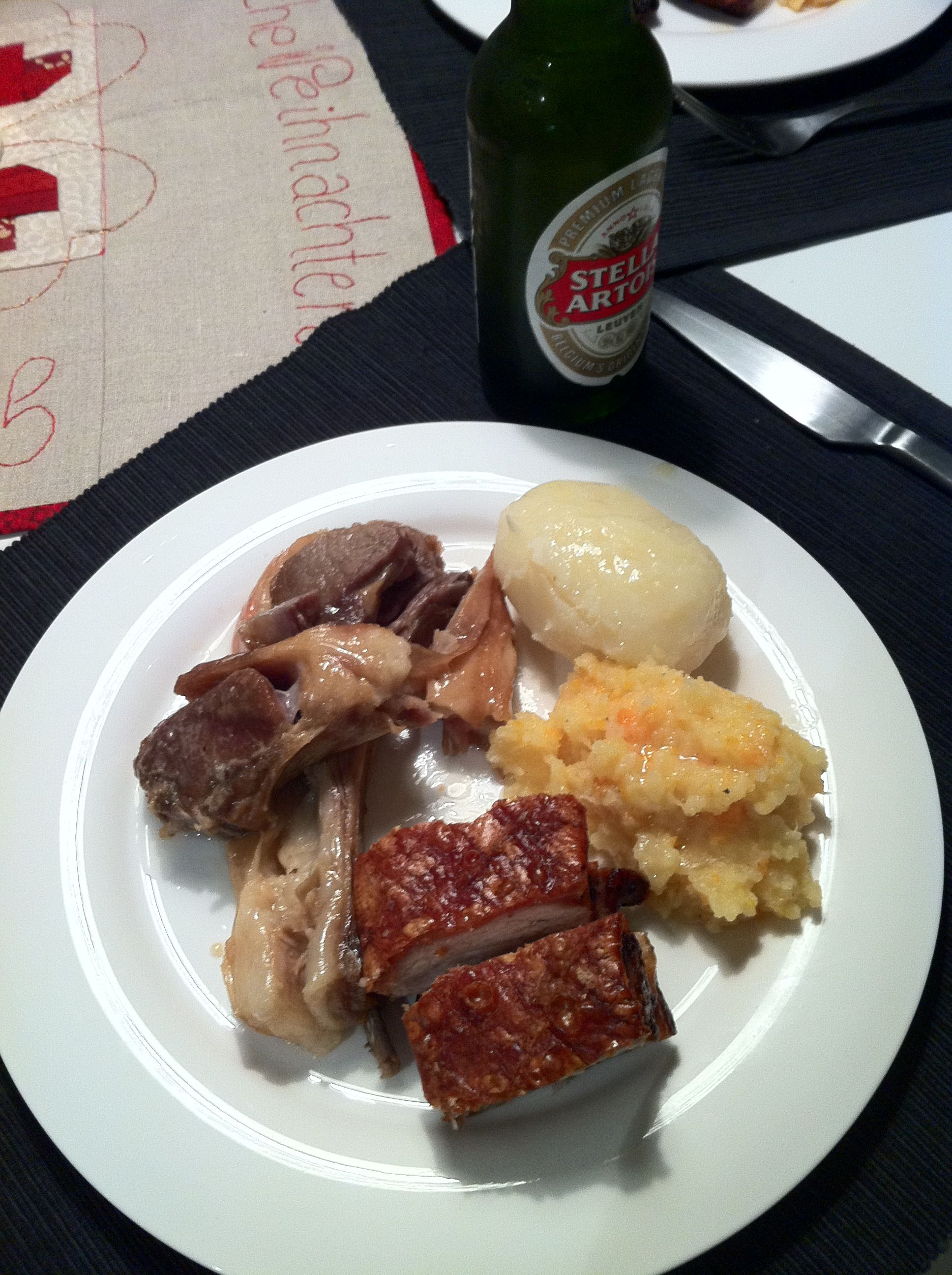 Traditional Norwegian Christmas Dinner: Ribbe, pinnekjott, mashed ...