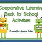 Cooperative Learning back to school games with robots