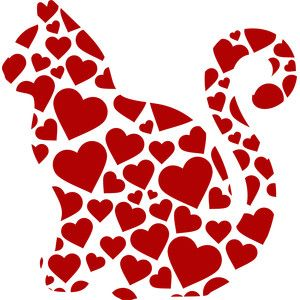 Download Silhouette Design Store - View Design #243382: cat hearts ...