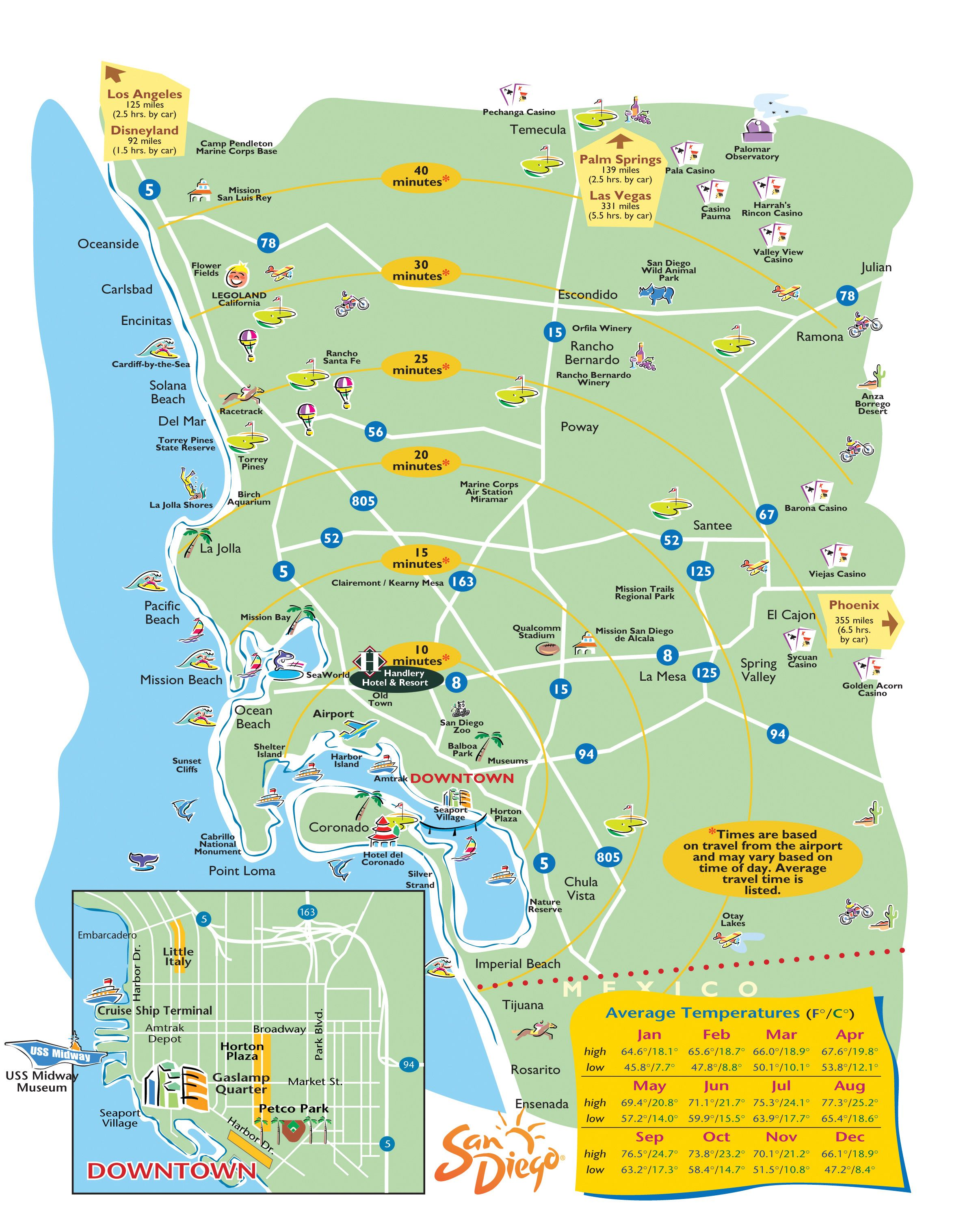San Diego Map - Dr. Odd | Vacation Time!✈ | San diego map, San ...