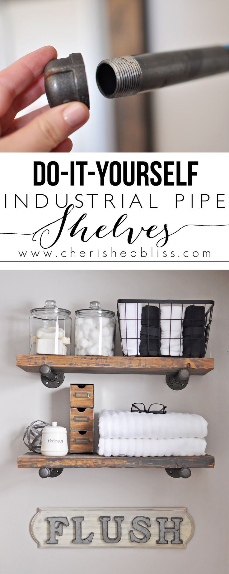How to build diy industrial pipe shelves pipes industrial and how to build diy industrial pipe shelves solutioingenieria Image collections