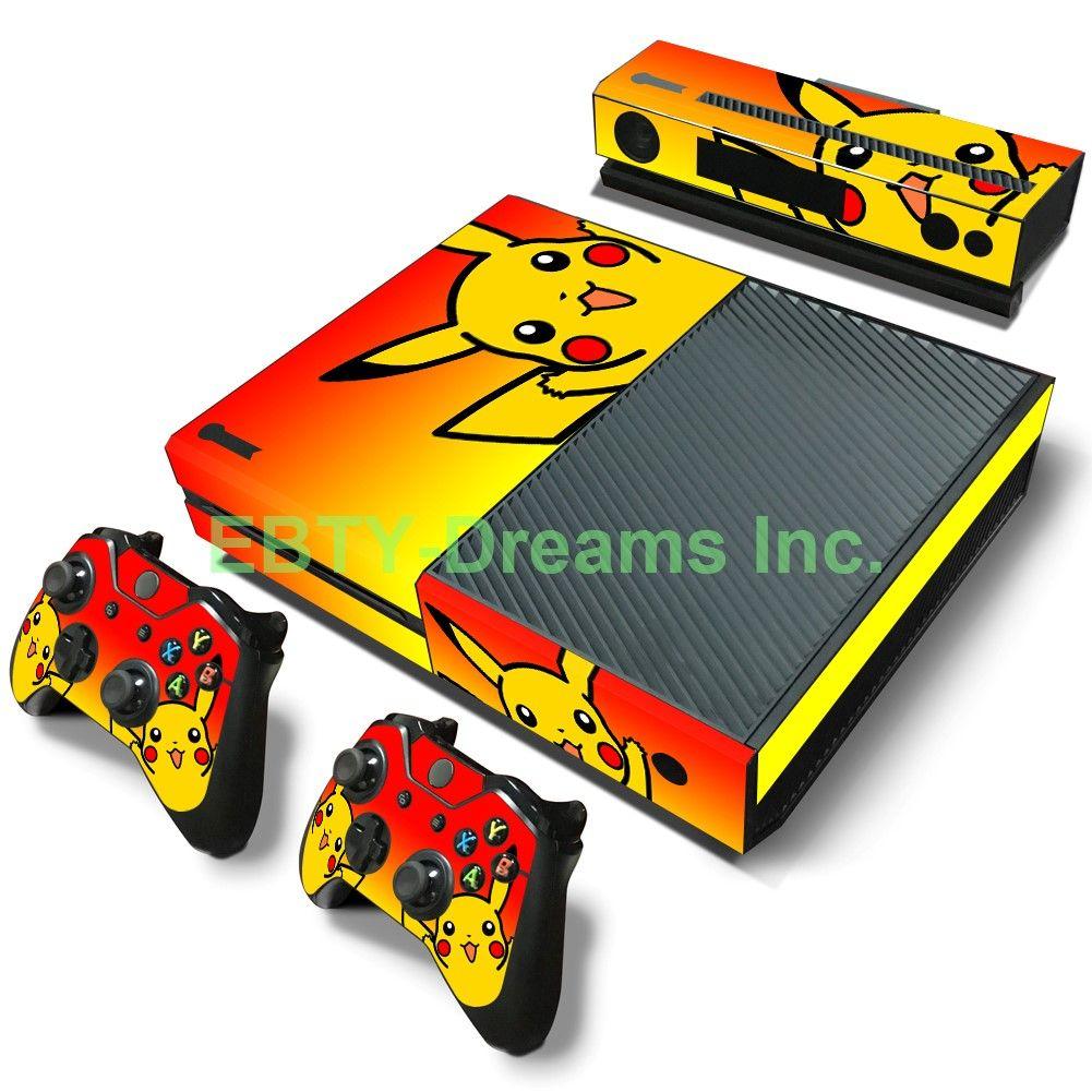 Ebty Dreams Inc Microsoft Xbox One Pokemon Anime Pikachu Vinyl Skin Sticker Decal Protector First Pokemon Xbox One Console Xbox One
