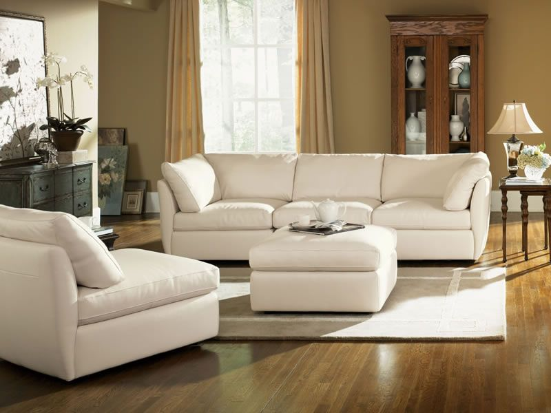 My Favorite Sectional It S Deep Plush Leather And Best Part Is You Can Completely Separate Each Piece For Mult Living Room Sectional Wide Couches Furniture