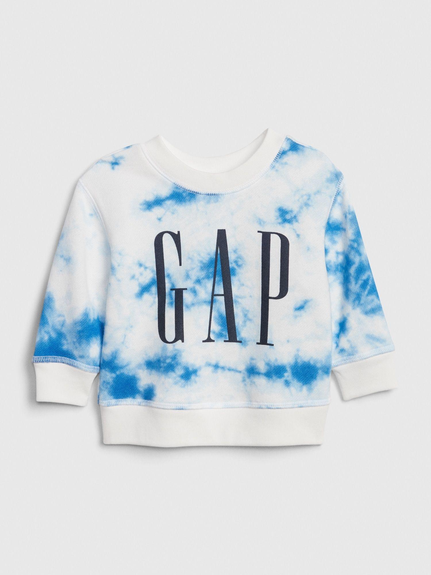 Gap Baby Baby Logo Tie Dye Sweatshirt Tie Dye Baby Kids Clothes Baby Boy Outfits Tie Dye Sweatshirt [ 2000 x 1500 Pixel ]