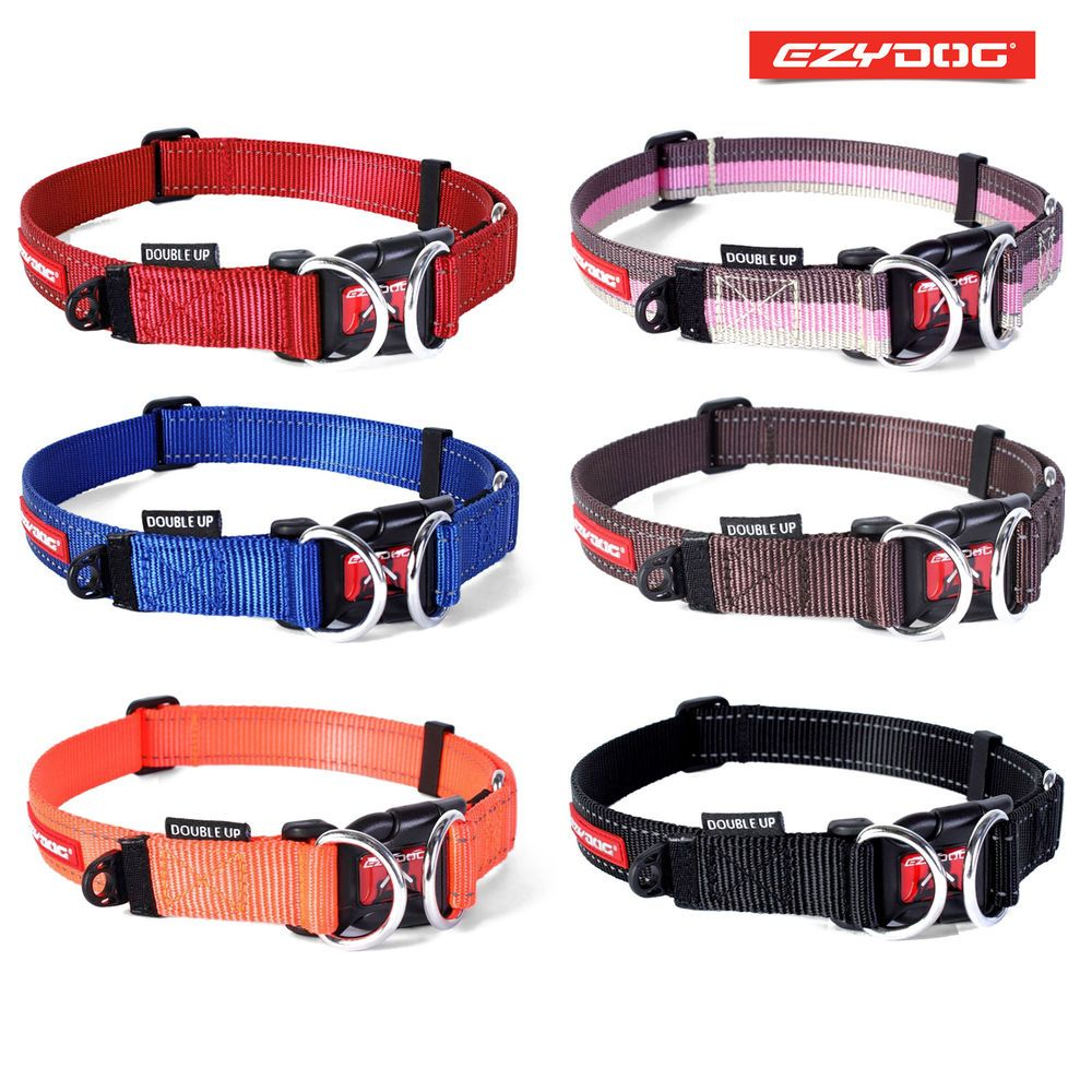 Details About Ezydog Double Up Dog Collar Double D Ring For
