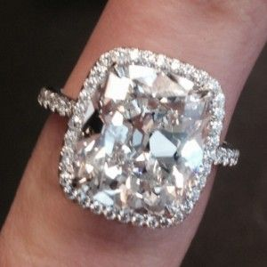 Harry Winston Cushion Cut Diamond Ring