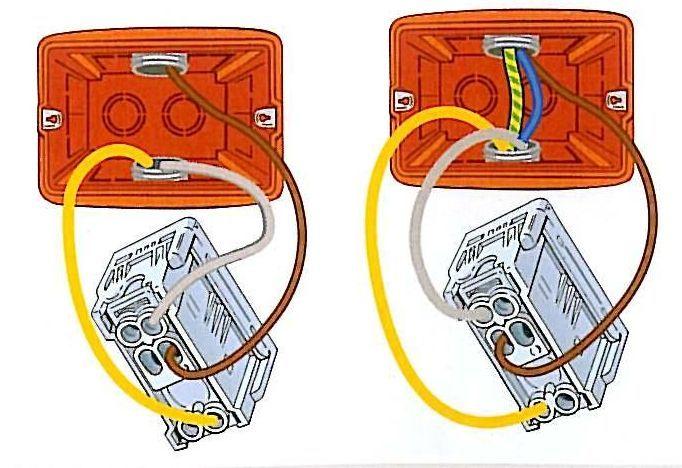 Punto luce deviato collegamento dei deviatori rispettando il contatto centrale il cavo giallo - Punto luce interrotto ...