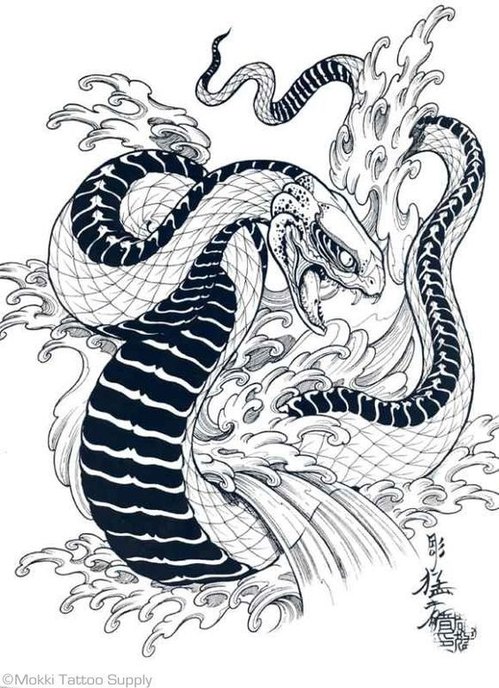 Tigers, Hawks & Snakes By Horimouja Snake tattoo design
