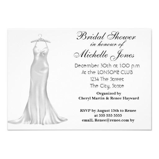 Popular White Bridal Shower White Custom Announcement