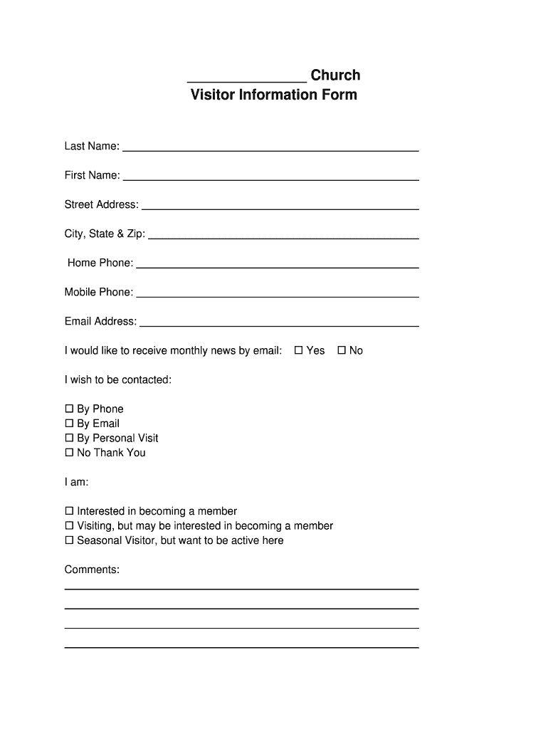 Church Visitor Card Template New Business Template Church Brochures Words Church Outreach
