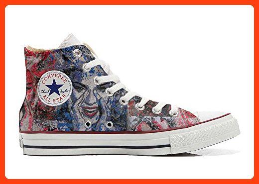Converse All Star Hi Customized personalisierte Schuhe (Handwerk Schuhe) Occhi Converse