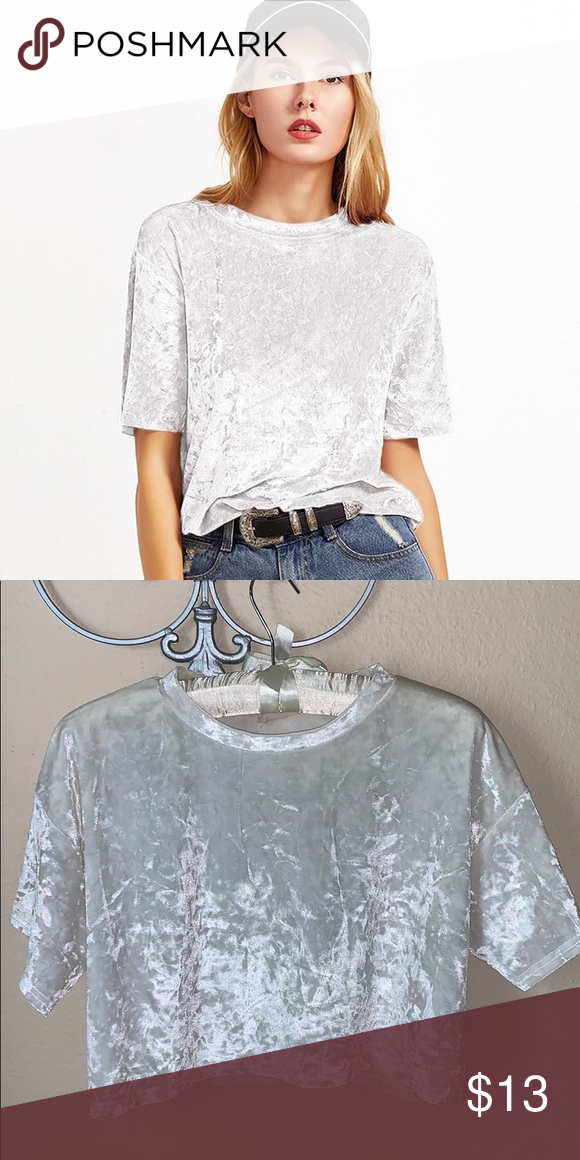 48a5fbb3eea White velvet Crop top Awesome for a day outside Pins & Needles Tops ...
