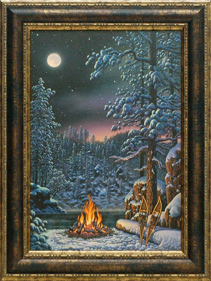 Fire and Ice\' by Kim Norlien Framed Painting Print | KIM NORLIEN ...