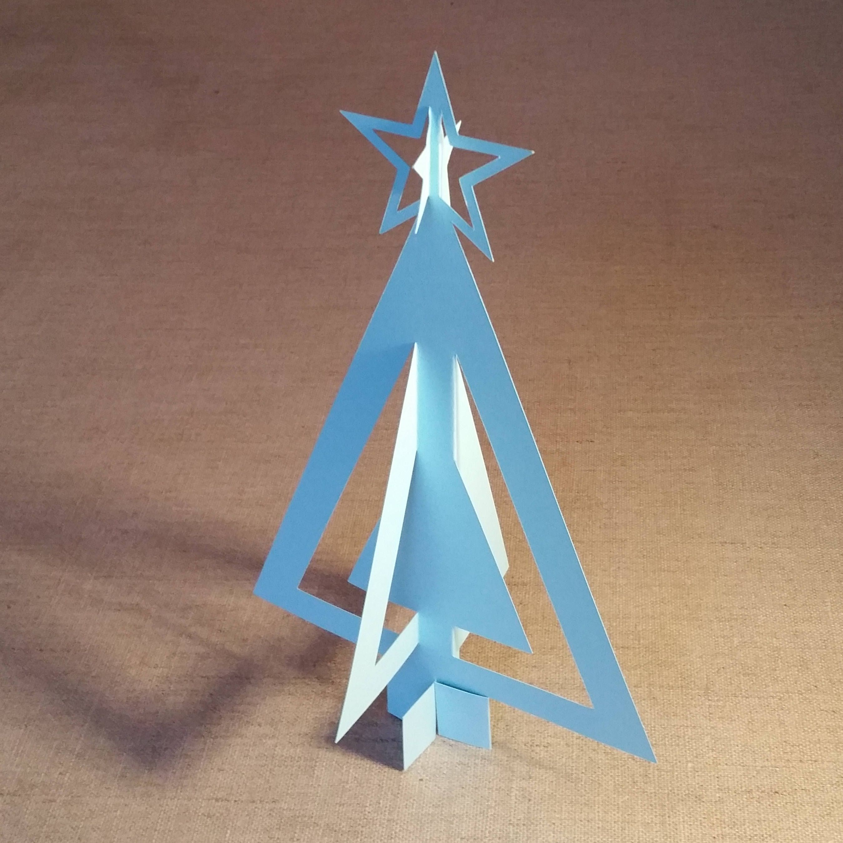 3D Christmas Tree SVG file and PDF template