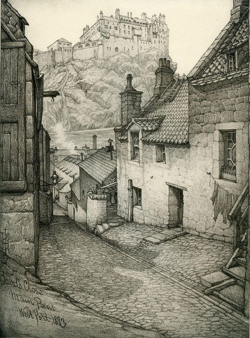 Old Houses of Edinburgh - Drawings by Bruce J Home ...